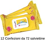 Babygella salviettine detergenti 12 Confezioni da 72 salviettine