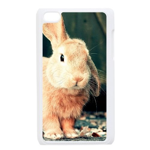TOPDIY DIY Plastic Phone Case for Ipod Touch 4 with Bunny Complex