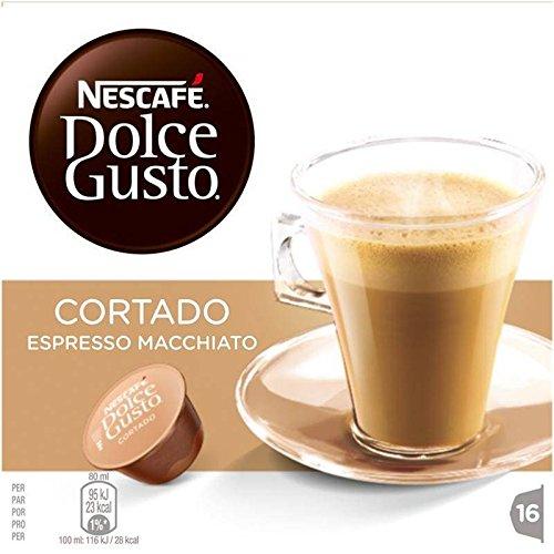 Dolce Gusto espresso cortado 16 dosettes 100g - Prix Unitaire - Livraison Gratuit Sous 3 Jours