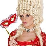 Collier de perle avec broche camée bijou Parrure baroque rococo bijou de reine sautoir ancien soirée à thème accessoires déguisement de carnaval accessoire femmes