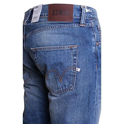 Edwin ED-55 Relaxed Tapered Compact Indigo Mid Glint Used blue