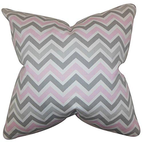 The Pillow Collection Kissenbezug mit Zickzack-Muster 18 x 18 Multi -