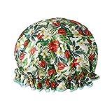 hicollie Wasserdicht Dusche Gap für Frau Double Layer Dusche Hat mit Flower Print