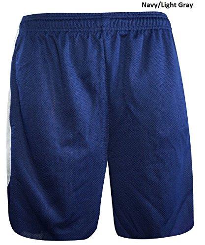 Reebok, pantaloncini atletica a due colori Navy/Light Gray