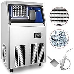 Chaneau Machine à Glaçon Commerciale Capacité De 40kg Machine à Glace Professionnelle électrique En Acier Inoxydable 304 (40kg)