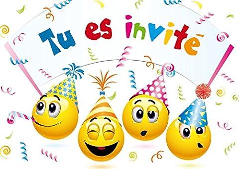 Carte D Invitation Anniversaire - Invitations Smiley