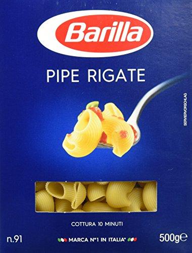 Barilla Pasta Nudeln Pipe Rigate n. 91, 500 g