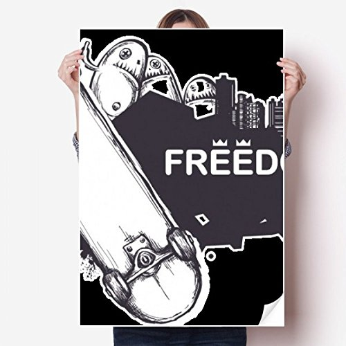 DIYthinker Hip-Hop Freiheit Skateboard Monster-Muster-Vinylwand-Aufkleber-Plakat-Wand Tapete Raum Aufkleber 80X55Cm 80Cm X 55Cm Mehrfarbig