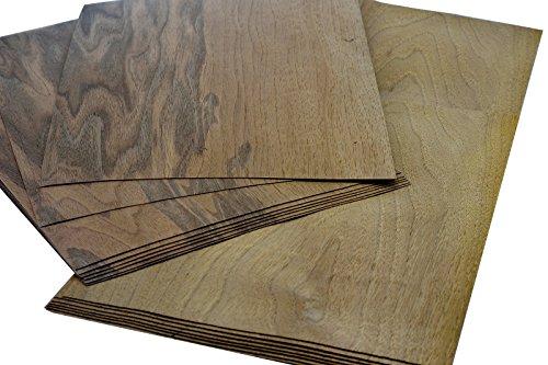 15-17 piallacci di qualità in legno di noce europeo,dimensione totale:0,8 m²; adatti per:modellismo, riparazioni, foto, regali, cartellini dei prezzi, bricolage, intarsi