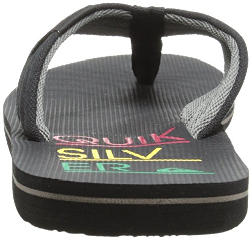 Quiksilver Molokai Layback, Tongs garçon Multicolore (Black/Red/Yellow)