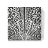 artboxONE Leinwand 40x40 cm Architektur Hangar von Jan Heine