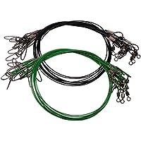 GEZICHTA 20/Geflochtene Angelschnur Carbon Steel Line Draht Leader Angeln Tools mit Wirbel und Druckkn/öpfen