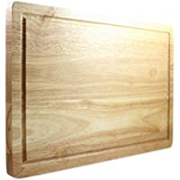 Latest Wooden Chopping Board - Lifetime Replacement Warranty - Best Rated Hardwood Cutting Block - Large 40 x 25 Centimeters Kitchen Tool - Stronger Than Plastic Ware Or Bamboo Appliances - Approved By Butchers