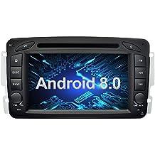 Ohok 7 Pollici Android 8.0.0 Oreo Octa Core 4G+32G 2 Din In Dash Autoradio Schermo di Tocco Lettore DVD Navigatore GPS Con Bluetooth Per Mercedes-Benz C class W203/Clk -C209/W209/Viano/Vaneo/G-W463/A-Class W168