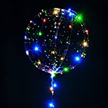 Smartcraft LED Transparent Balloons , Reusable Battery Operated Clear Latex Balloons with Wire Led Lights Party Decorative Multicolor Balloons for Birthday Weddings Home Decor (Pack of 1 Balloon)