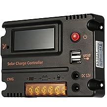 Anself Regolatore della carica 20A 12V 24V LCD pannello di