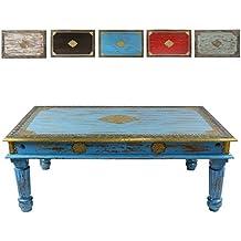 Trkiser Wohnzimmertisch Im Shabby Chic Stil Holz Couchtisch Holztisch Tisch Vintage Retro Nostalgisch Used Look