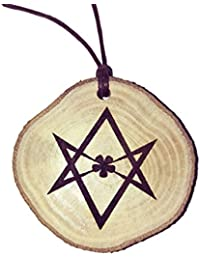 Retrosheep Aleister Crowley Handmade Eco Friendly Wooden Necklace Charm
