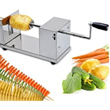 Eureoshop Acier inoxydable Spiral Slicer Potato Chips de pommes de terre Twister Fruits légumes Cutter Peeler
