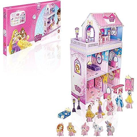 Princesas Disney - Mansión Palace Pets, maqueta de cartón con accesorios (Stor 08120)