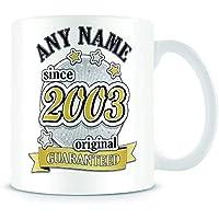 16th Birthday Mug for Girls and Boys - Original 2003-16th Birthday Gift