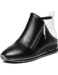 Zapatos de otoño/ aumenta en la primavera y el otoño botas mujeres/ mujeres de arranque plana/Cargadores de cuero casual las mujeres/ otoño/invierno de zapatos