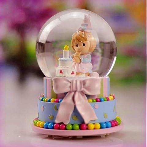 Music box luce decorazione torta di compleanno candela sfera di cristallo regalo creativo (Amore Candela Di Unità)