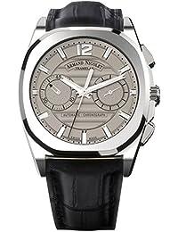 Armand Nicolet – Reloj automático unisex con correa de piel gris Cronógrafo y negro a654aaa-gr-pi4650na
