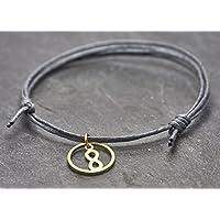 Armband Circle Infinity grau minimal vegan Freundschaftsarmband Boho