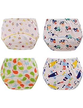 HaimoBurg 4er Pack Wasserdicht Baby Lernwindel Trainerhosen Unterwäsche Windeln Windelhose zum Toilettentraining...