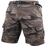 Muscle Alive Hombres Cargo Shorts Vintage Deportes Cámping Excursionismo Camuflaje Pantalones Cortos Algodón