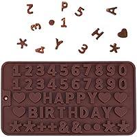 Número de letras molde de pastel de silicona galleta de chocolate molde de hielo diy fondant