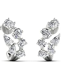 Stylori 18k (750) Gold and Diamond Stud Earrings