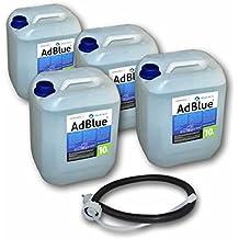 4x AdBlue 10litros SCR urea Solución con manguera de entrada Para AdBlue Bidón