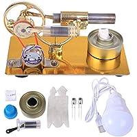 MRKE Motor Stirling Generador Mini Baja Temperatura DIY Stem Steam Stirling Engine Kit Física Ciencia Experimentar Enseñanza Juguete y Regalo