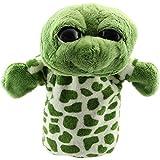 Marioneta - TOOGOO(R)Marionetas de mano de animal de felpa de terciopelo lindo Disenos elegantes Juguete ayuda de aprendizaje del nino (Tortuga de ojos grandes) Verde