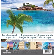 Paper House Double-Sided Paper-Pad spiagge del mondo 12 x 12 pollici