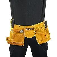 Rziioo Delantal De Trabajo De Cinturón De Herramientas De Cuero, Organizador De Trabajo De Soporte De Herramientas para Generador Y Bolsa De Herramientas De Mantenimiento Eléctrico del Técnico,Yellow