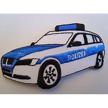 Unbekannt Bügelbild Polizei 79 Cm 45 Cm Polizeiwagen Auto