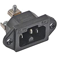 Heißgeräte-Stecker Loch 3,5mm Thermoplast C16A Schraubanschluss max 10A/250V T155