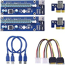 SIENOC 2x USB3.0 1x à 16x Extender Riser Card Adapter SATA Power Cable PCI-E Express