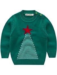 Niños Sudaderas para Navidad Jersey Suéter Prendas de Punto Pull-over Infante Traje de navidad
