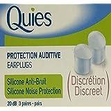 Quies 1Paire de Protection Auditive en silicone bouchons d'oreille–Lot de 3