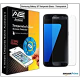 Annant Entp™ Premium Full Screen Edge To Edge Coverage 2.5D Curved HD+ Tempered Glass Screen Guard Protector For Samsung Galaxy S7 Transparent