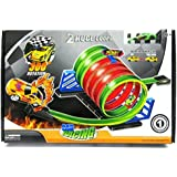 Saffire Inertia Powered Racing Car Track Set, Multi Color