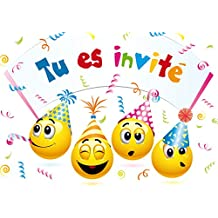 carte d invitation anniversaire Amazon.fr : carte invitation anniversaire