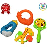 Smiles Creation Cute Rattle (Set of 4)