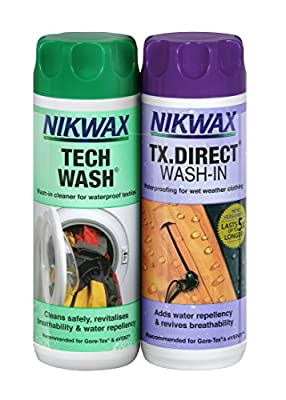 Nikwax Unisex Tech TX Direct Wash-in (Pack of 2), Transparent, 300 ml