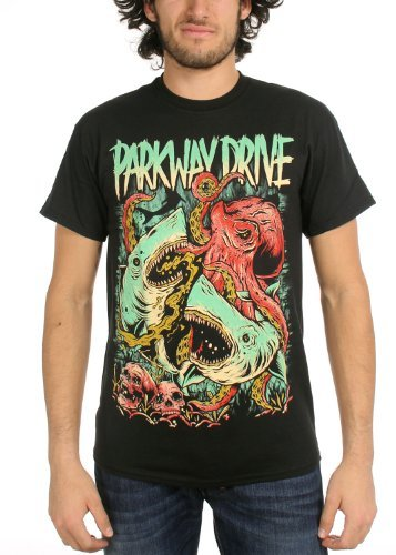 Rockabilia Parkway Drive Sharktopus T-Shirt Small