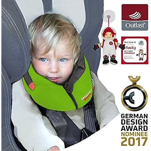 NUEVO: SANDINI SleepFix S Outlast - niños almohada de seguridad (coche/bicicleta) - NUEVO AJUSTE - Set completo en muchos colores - Incluye